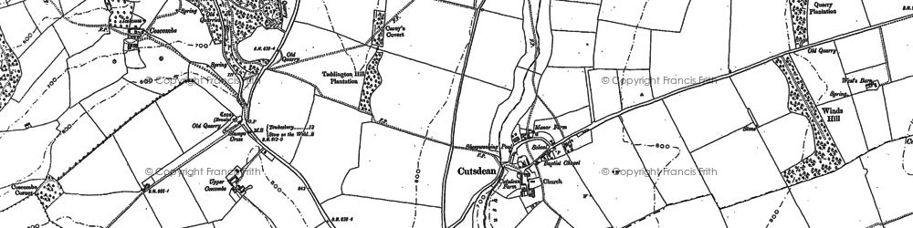 Old map of Cutsdean in 1883