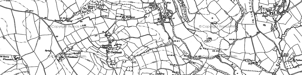 Old map of Wotton Cross in 1865