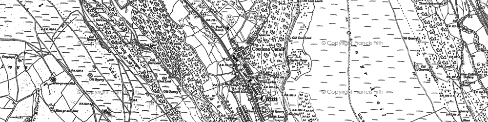 Old map of Cwm in 1915