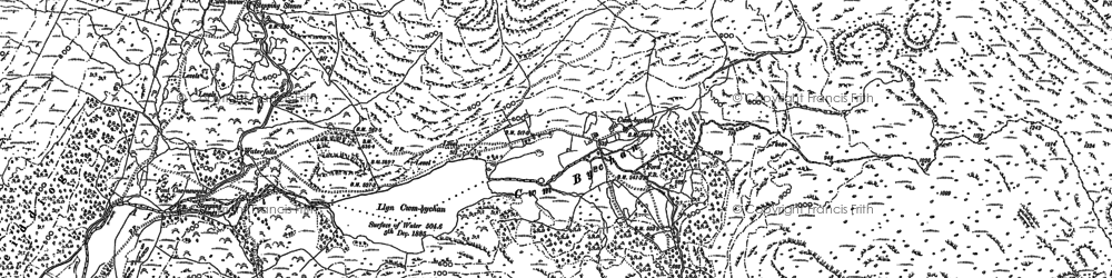 Old map of Cwm Bychan in 1887