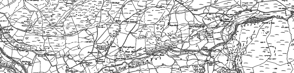 Old map of Afon Cynfal in 1887