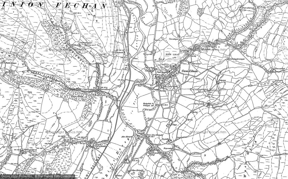 Old Map of Cwm-Llinau, 1886 - 1900 in 1886
