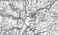 Old Map of Cwm-Llinau, 1886 - 1900