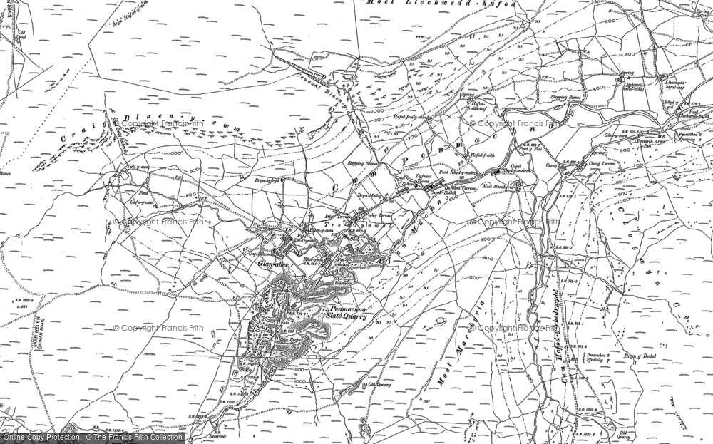 Old Map of Historic Map covering Afon y Foel in 1899