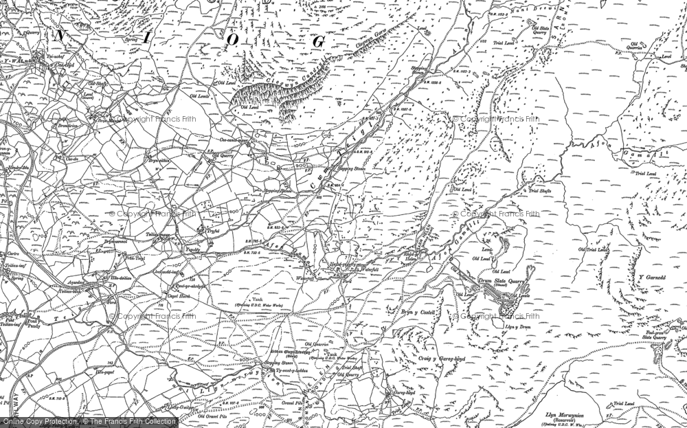 Old Map of Historic Map covering Afon Teigl in 1887