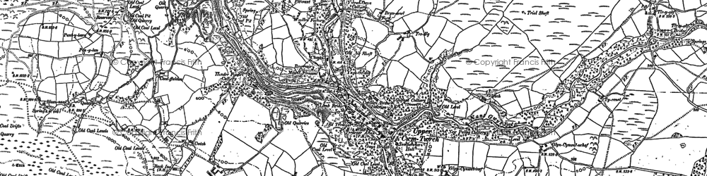 Old map of Ystradowen in 1903