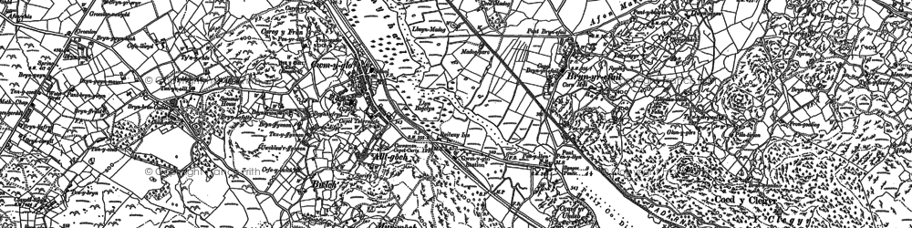 Old map of Cwm-y-glo in 1888