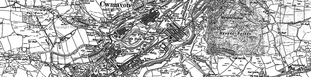 Old map of Ynysygwas in 1875