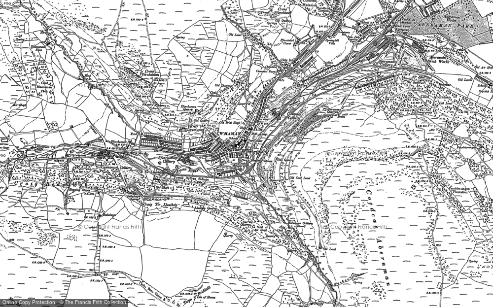 Old Map of Cwmaman, 1897 - 1898 in 1897