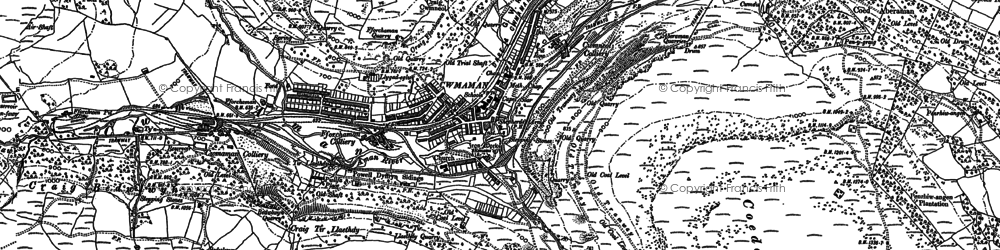 Old map of Cwmaman in 1897