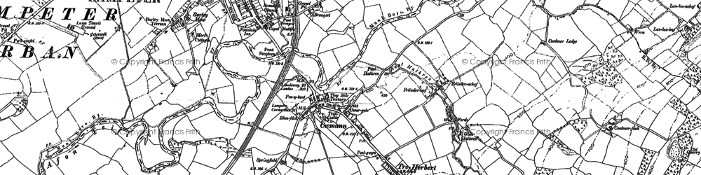 Old map of Cwmann in 1904