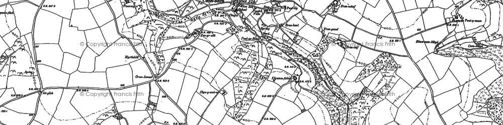 Old map of Afon Sien in 1887