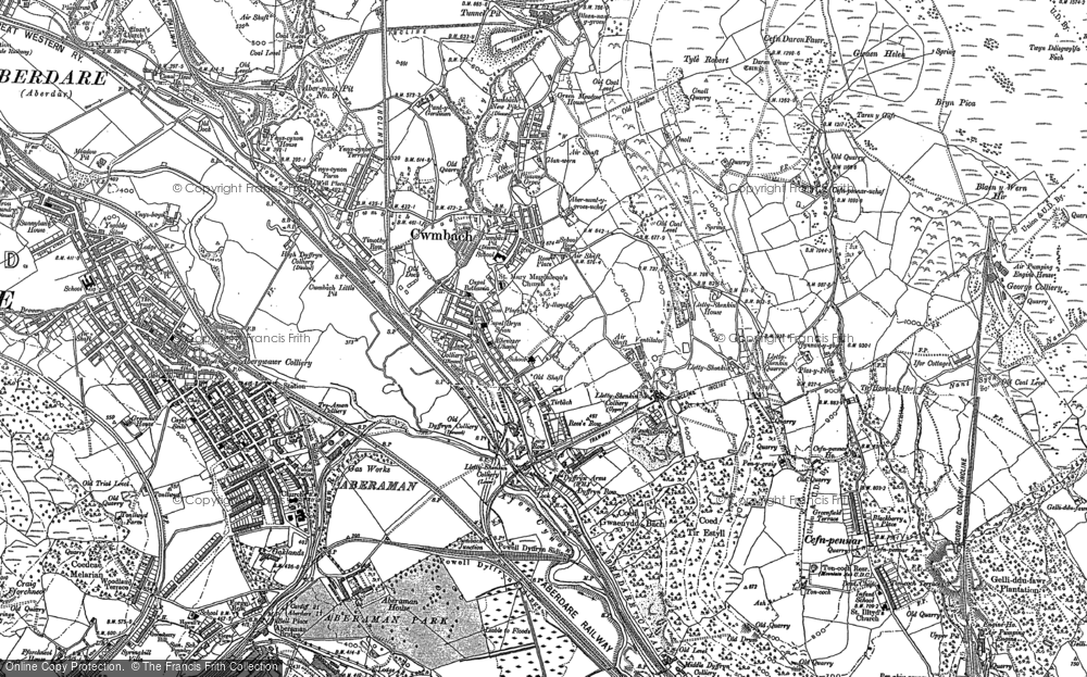 Old Map of Cwmbach, 1898 - 1915 in 1898