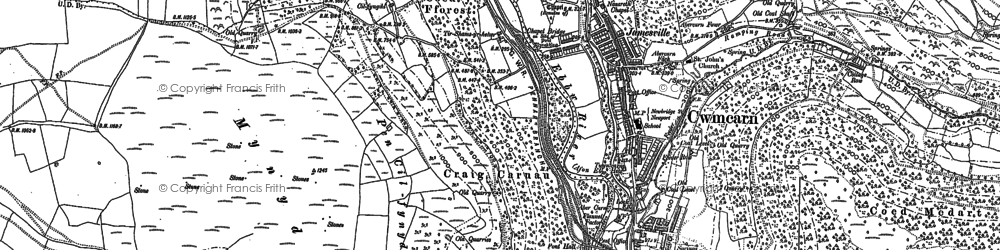 Old map of Cwmcarn in 1899