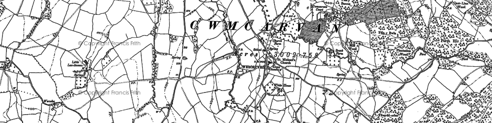 Old map of Bailey Glace in 1900