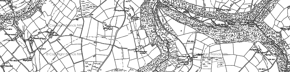 Old map of Cwmcych in 1887