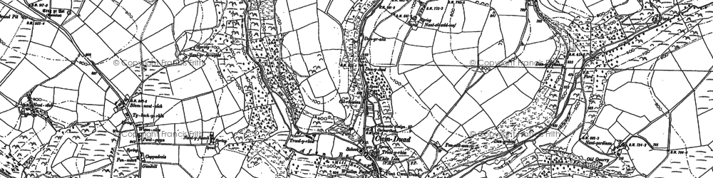 Old map of Afon Duad in 1887