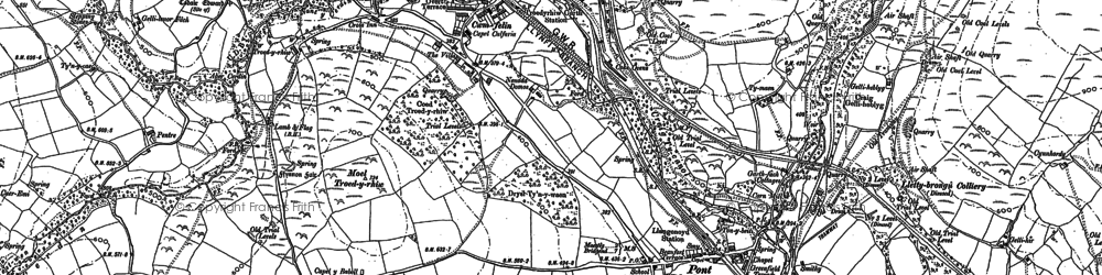 Old map of Y Bwlwarcau in 1897