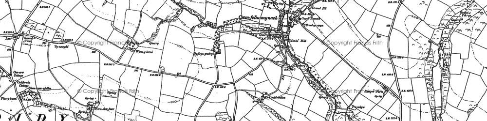 Old map of Cwmfelin Mynach in 1887
