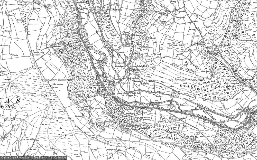 Map of Cwmfelinfach, 1915 - 1916