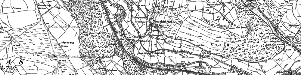 Old map of Ynys Hywel in 1915