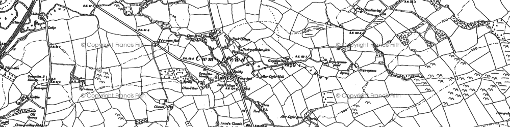 Old map of Abercyfor Uchaf in 1887