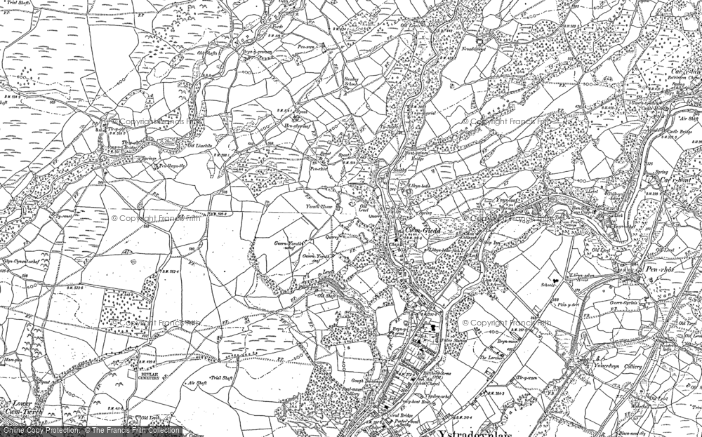 Old Map of Cwmgiedd, 1903 in 1903