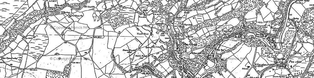 Old map of Cwmgiedd in 1903