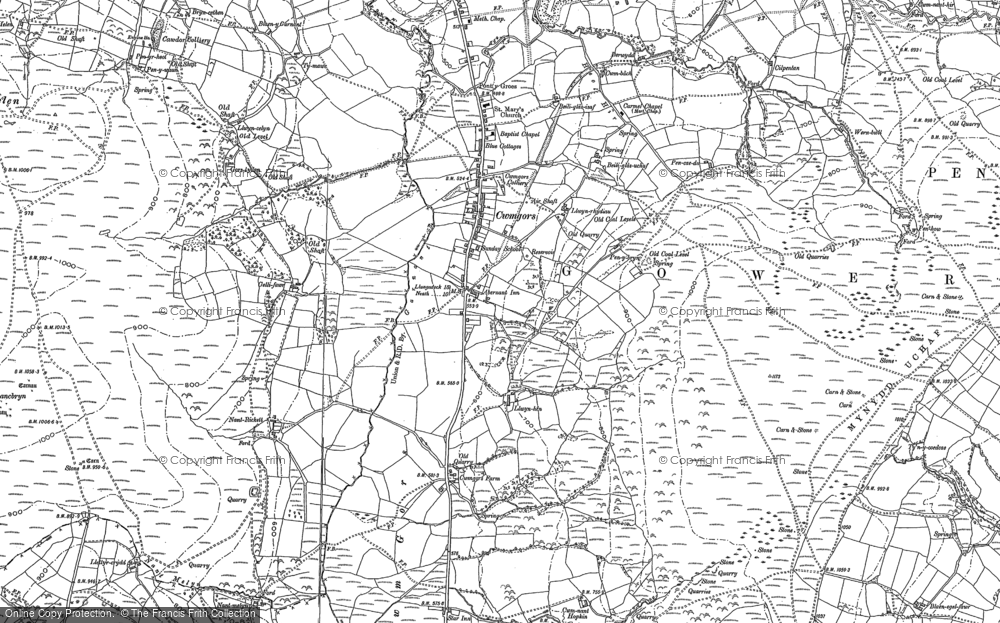 Old Map of Historic Map covering Bancbryn in 1905
