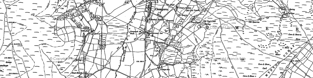 Old map of Bancbryn in 1905