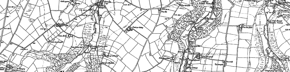 Old map of Tomenlawddog in 1887