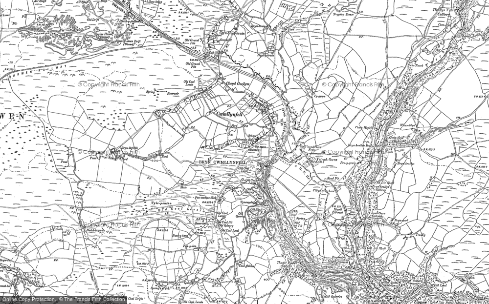 Old Map of Cwmllynfell, 1903 - 1905 in 1903