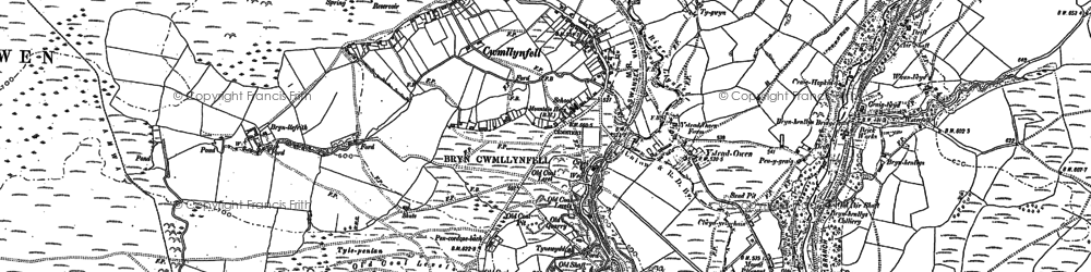 Old map of Cwmllynfell in 1903