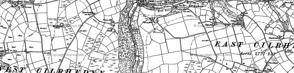 Old map of Afon Sylgen in 1887