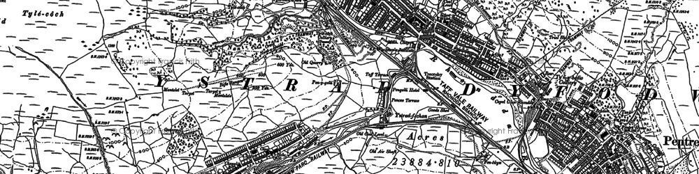Old map of Cwmparc in 1897