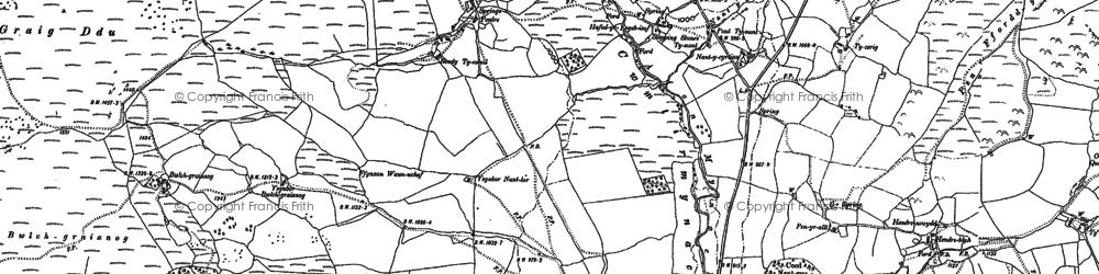 Old map of Y Gesail in 1886