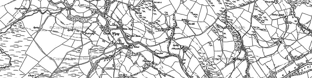 Old map of Allt-y-fan in 1884