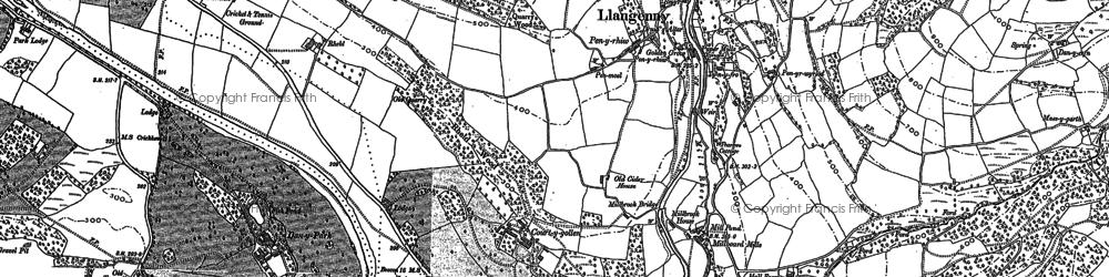 Old map of Tir Gunter in 1879