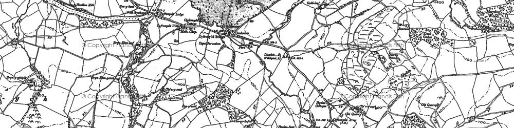 Old map of Afon Banwy neu Einion in 1884