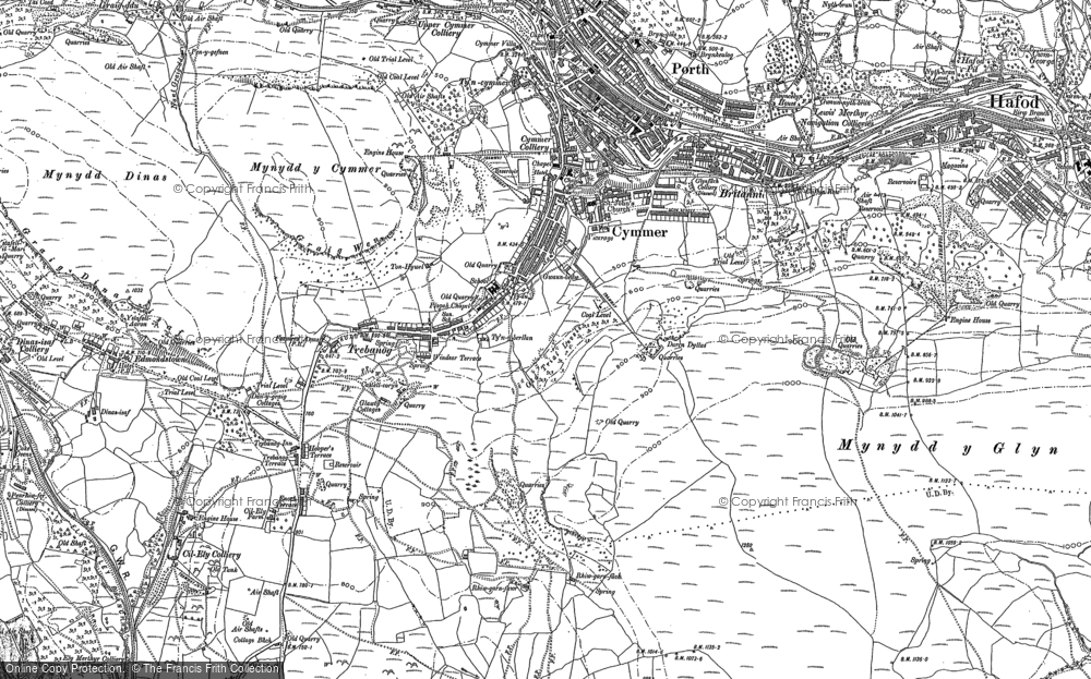 Old Map of Cymmer, 1898 in 1898