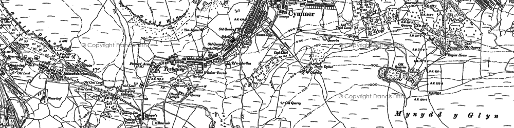 Old map of Cymmer in 1898