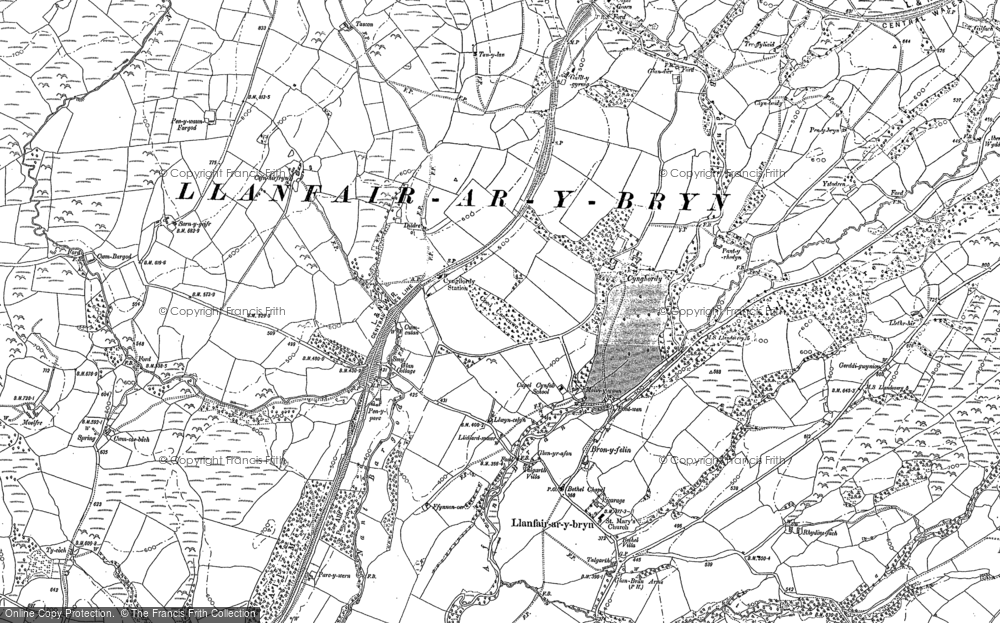 Old Map of Historic Map covering Afon Crychan in 1904