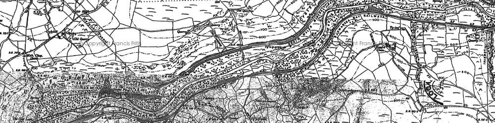 Old map of Afon Afan in 1875