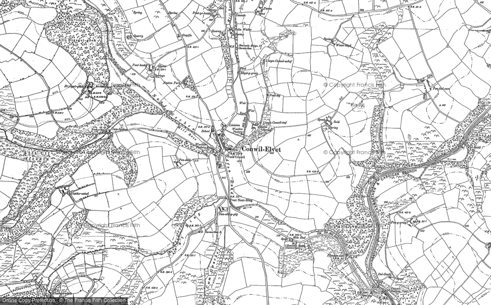 Old Maps of Cynwyl Elfed Francis Frith