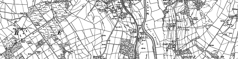 Old map of Dacre Banks in 1907
