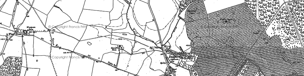 Old map of Stowe School in 1883