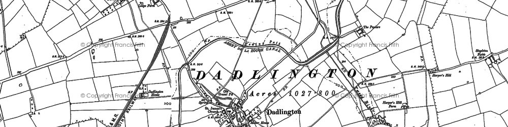 Old map of Ambion Wood in 1885