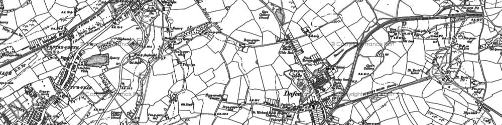 Old map of Allt-y-frân Fawr in 1878