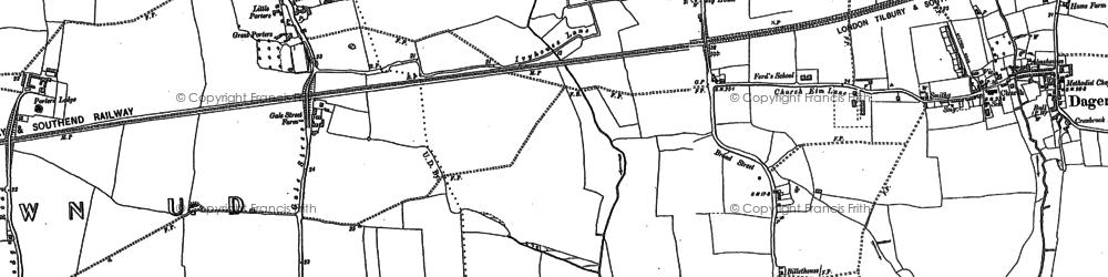 Old map of Dagenham in 1894