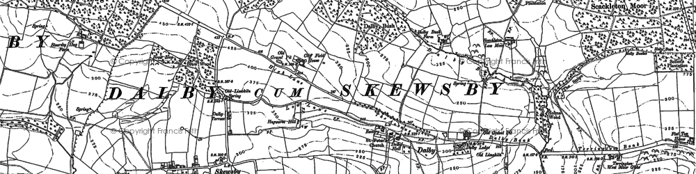 Old map of Witherholme Hall in 1889